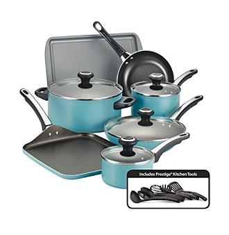 Farberware® High Performance 17-pc. Aqua Cookware Set