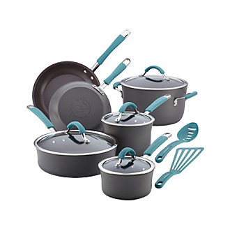 Rachel Ray® Cucina 12-pc. Agave Blue Hard Anodized Cookw