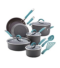 Rachel Ray® Cucina 12-pc. Agave Blue Hard Anodized Cookware Set
