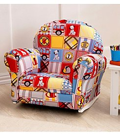 KidKraft Firefighter Upholstered Chair