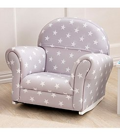 KidKraft Grey with Stars Upholstered Chair