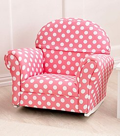 KidKraft Pink with Polka Dots Upholstered Chair