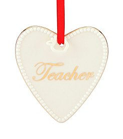 Lenox® Teacher Heart With Apple Dangling Ornament