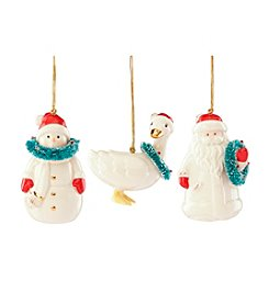 Lenox® Very Berry Merry Set Of 3 Ornaments