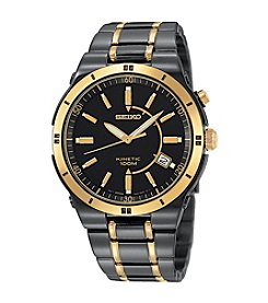 Seiko® Men's Two-Tone Kinetic Dress Watch
