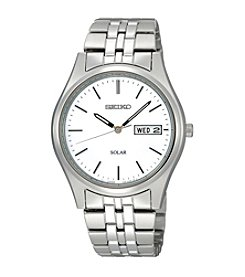 Seiko® Men's Stainless Steel Solar Watch
