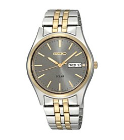 Seiko® Men's Two-Tone Stainless Steel Solar Watch