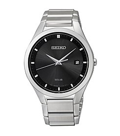 Seiko® Men's Silvertone Solar Dress Watch