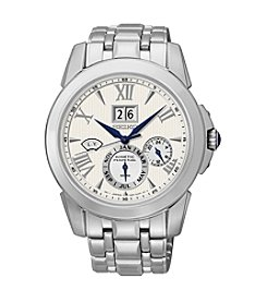 Seiko® Men's LeGrand Sport Silvertone Kinetic Perpetual Calendar Watch