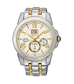 Seiko® Men's LeGrand Sport Two-Tone Kinetic Perpetual Calendar Watch