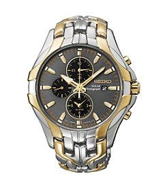 Seiko® Men's Excelsior Two-Tone Solar Chronograph Watch