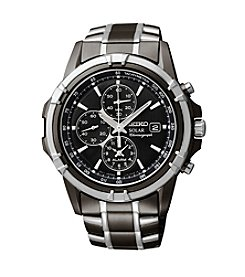 Seiko® Men's Two-Tone Chronograph Solar Dress Watch
