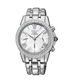 Seiko® Women's Le Grand Sport Silvertone Diamond-Accented Watch