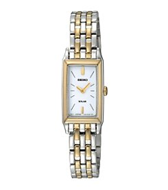Seiko® Women's Two-Tone Solar Bracelet Watch