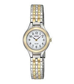 Seiko® Women's Two-Tone Solar Expansion Watch