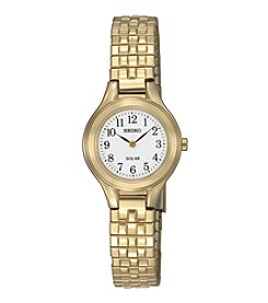 Seiko® Women's Goldtone Solar Expansion Watch