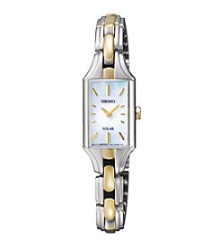Seiko® Women's Two-Tone Dress Solar Classic Watch