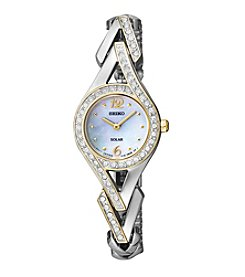 Seiko® Women's Two-Tone Crystal Solar Watch