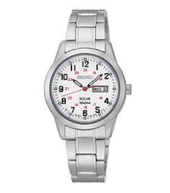 Seiko® Women's Silvertone Solar Watch