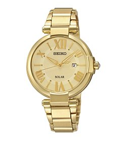 Seiko® Women's Goldtone Solar Watch