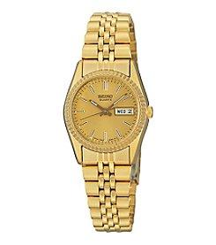 Seiko® Women's Goldtone Dress Calendar Watch
