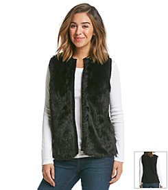 J.J. Basics Faux Fur Sweater Vest