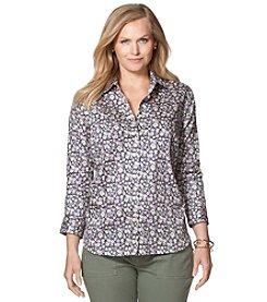 Chaps® Plus Size Floral Sateen Sport Shirt