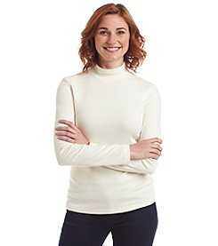 Studio Works® Solid Long Sleeve Mock Neck Pullover Tee