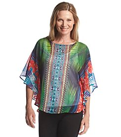 Ruby Rd.® Lush Life Palm Print Top