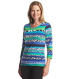 Ruby Rd.® Multi Stripe Knit Top