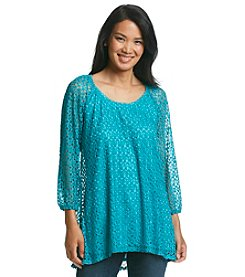 Notations® High Low Lace Tunic
