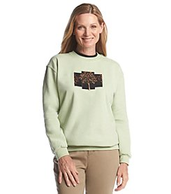 Morning Sun® Velvet Winter Tree Fleece Sweatshirt
