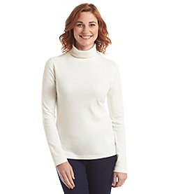 Studio Works® Solid Turtle Neck Pull Over Top