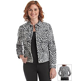 Laura Ashley® Cheetah Jacket