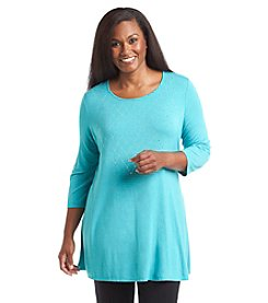 Laura Ashley® Plus Size Jewel Trumpet Tunic