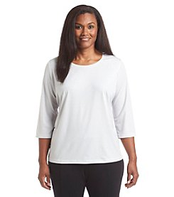 Laura Ashley® Plus Size Shimmer Top