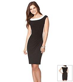 Chaps® Contrast Neckline Dress