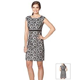 Chaps® Patterned Lace Dress