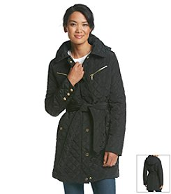 MICHAEL Michael Kors® Three-Quarter Belted Quilt Coat