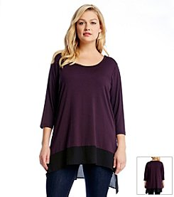 Karen Kane® Plus Size Contrast Hem Tunic