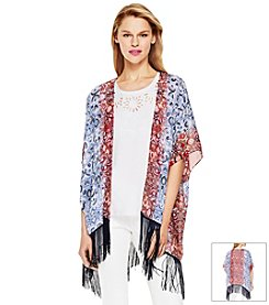 Vince Camuto® Open Front Printed Top