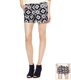 Vince Camuto® Geometric Diamond Shorts