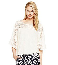 Vince Camuto® Lace Yoke Top