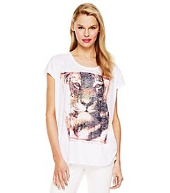Vince Camuto® Printed Burnout Tee