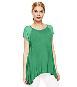 Vince Camuto® Chiffon Shoulder Top
