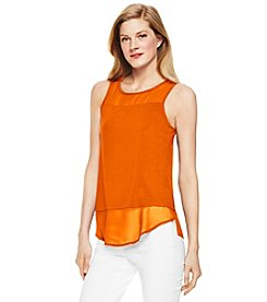 Vince Camuto® Mixed Media Top