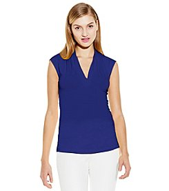 Vince Camuto® Pleat Neck Top