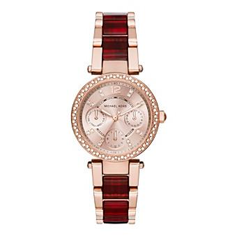Michael Kors® Women's Rose Goldtone Mini Parker Watch Wi