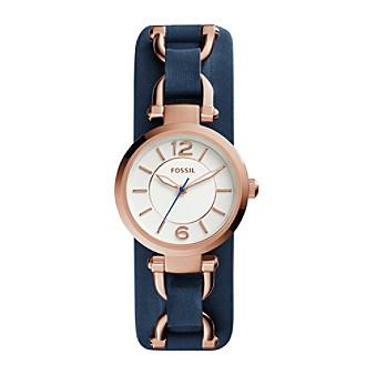 Fossil® Women's Georgia Artisian Watch In Rose Goldtone