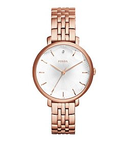 Fossil® Women's Incandesa Watch In Rose Goldtone With Metal Link Bracelet